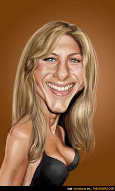 Caricatura de Jennifer Aniston.
