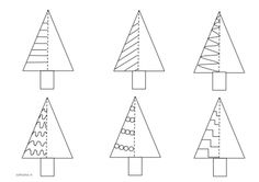 Christmas countertops - Christmas tree patterns and writing exercise - Christmas Tree Pattern, Noel Christmas, Christmas Crafts For Kids, Christmas Activities, Christmas Colors, Christmas Themes, Christmas Decorations, Xmas, Christmas Coloring Pages