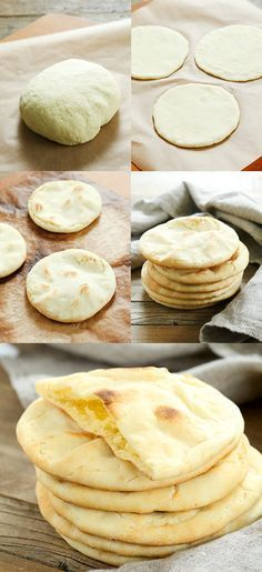 This soft and tender gluten free pita bread is also yeast free, so there's no rising time. Store-bought gluten free flatbreads simply can't compare! From gluten free on a shoestring Pain Pita Sans Gluten, Gluten Free Pita Bread, Gluten Free Donuts, Gluten Free Desserts, Dairy Free Recipes, Wheat Free Bread Recipes, Easy Recipes, Flour Recipes, Dinner Recipes