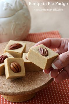 It's a match made in heaven! Pumpkin Pie + Fudge = the perfect holiday treat! This Pumpkin Pie Fudge melts in your mouth!