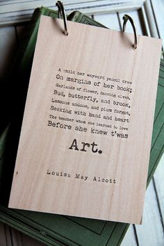 Wood Sketchbook / Notebook Art quote by quotesandnotes on Etsy