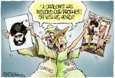 """Anne Christensen. Global violence erupted after a Danish newspaper ran a political cartoon that depicted the prophet Muhammad. Understanding the strong reaction required prior knowledge of the cultural rules in the Koran which forbids the depiction of the prophet in any shape or form.  Link to Huff Post article about the """"Danish Cartoon Crisis of 2005:"""" http://www.huffingtonpost.com/peter-mcgraw-and-joel-warner/muhammad-cartoons_b_1907545.html"""