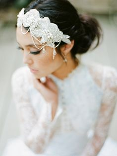 veils ,  shoes ,  Winter ,  lace ,  hair ,  Headpieces ,  Headband ,  wedding accessories ,  claire