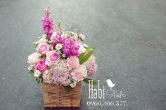Habi flower, Habi studio, flower arrangement, birthday flower, Habi design, flower basket, vintage flower Glass Vase, Vintage, Flowers, Jewelry, Design, Home Decor, Jewlery, Decoration Home, Bijoux
