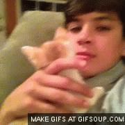 First a really cute boy and then a cute kitty this can not get any better than this love hayes grier