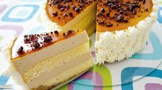 Rercept na pruhovaný cappuccino dort High Sugar, Czech Recipes, Taste Buds, Baked Goods, Mousse, Food To Make, Cheesecake, Sweet Tooth, Cookies