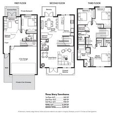 Image from http://latitudedelraybeach.com/img/floorplans/th3.png.