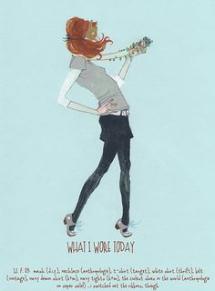 What I Wore by Deanna Staffo. The playful pose reminds me of Where the Wild Things Are.