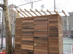 Garden Shed, made of reclaimed redwood lumber | Flickr - Photo Sharing!