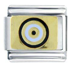 Pugster Target Dart Bullseye Italian Charms Bracelet Link Pugster. $7.99. Links: 1. Metal: Stainless Steel. Paint Type: Enamel Painted. Plating: Gold Plated. Note: Soldered On (Not Glued)