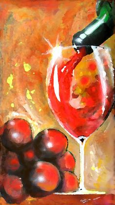 Grapes   Artist  Marcello Cicchini   Medium  Painting - Acrylic On Burlap   Description   About the artist:   Just THIS moment... Creation it is not hand made. Creation requires no action... it happens through you without knowing what you're doing. The only requirement: Be Now.