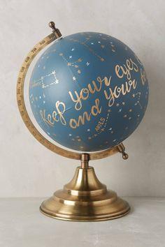 Handpainted Wanderlust Globe