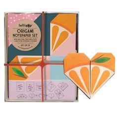Origami Notepaper Set: Orange