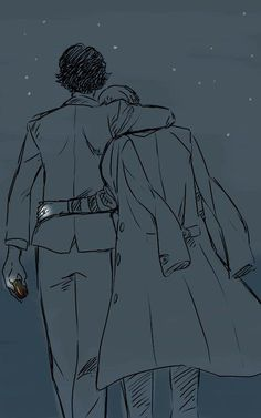 This is probably one of my most favourite illustrations I've ever seen for johnlock: