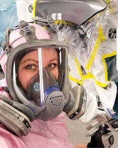 Female Fighter, Fighter Pilot, Gas Mask Girl, Hazmat Suit, Oxygen Mask, Latex Babe, Respirator Mask, Rubber Gloves, Full Face Mask