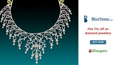 Buy diamond jewelries worth Rs.10000 & get flat 7% discount only @BlueStone.com http://27c.in/x8YH1 #jewellery For more #offers on #jewellery please visit 27coupons.com