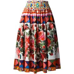 24c33067c1 Dolce & Gabbana Mambo print pleated skirt (55.180 RUB) ❤ liked on Polyvore  featuring