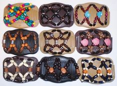 "Angel Wings Hair Clips 4x3.5/"" African Butterfly Style Quality S69 Magic Combs"