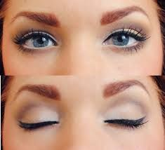 A neutral make up look