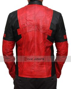 Deadpool Jacket in Red and Black and will give perfect Deadpool Look! Best for Cos-play Parties to wear as Deadpool Costume. Use this as your Motorcycle Jacket. Vintage Leather Jacket, Leather Men, Black Leather, Leather Jackets, Deadpool Jacket, Deadpool Costume, Black N Yellow, Ryan Reynolds, Clothes