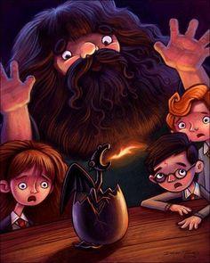 Hagrid And His Dragon
