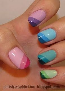 different colored stripes tips .. cute :3