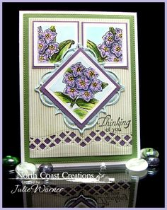 Birthday Flower card colored using Copics - NCC images, ODBD dies