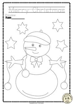"Help your child develop their pre-writing and fine motor skills with «Christmas Trace and Color Pages"" This .pdf file includes 14 Christmas themed Tracing and Coloring Worksheets. This is a perfect activity for your young artists. Christmas Worksheets, Christmas Activities For Kids, Preschool Christmas, Christmas Themes, Preschool Activities, Christmas Child, Preschool Writing, Kindergarten Worksheets, Writing Worksheets"