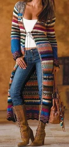 / knitted and knitted bohemian sweater coat / boho style / - . / knitted and knitted bohemian sweater coat / boho style / - # Bohemian Always want. Crochet Coat, Crochet Cardigan, Crochet Clothes, Crochet Shoes, Crochet Style, Crochet Winter, Knit Poncho, Knitted Coat, Crochet Sweaters
