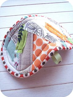 scrappy patchwork potholder