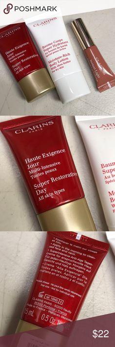 Clarins lip perfector eclat day cream body lotion Set of three Makeup Bronzer