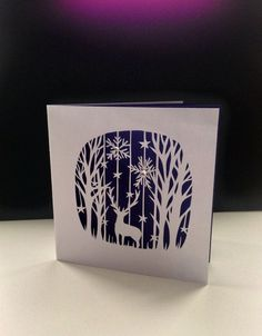 Laser cut replica of a hand cut paper cutting by Diy Christmas Cards, Xmas Cards, Christmas Art, Linoprint, Kirigami, Linocut Prints, Paper Cutting, Cut Paper, Paper Cards