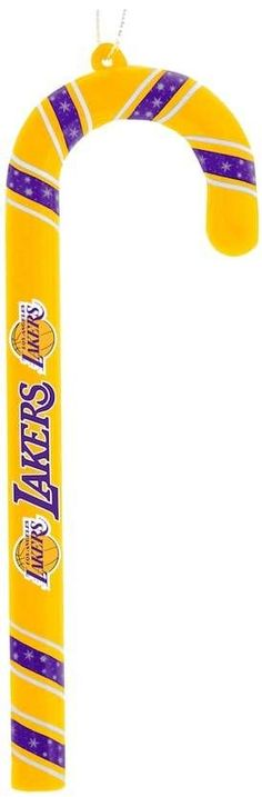 Forever Collectibles Los Angeles Lakers 6-Pack Candy Cane Ornaments