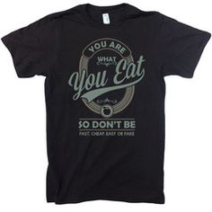 """You Are What You Eat"" Unisex Organic Cotton T-shirt 