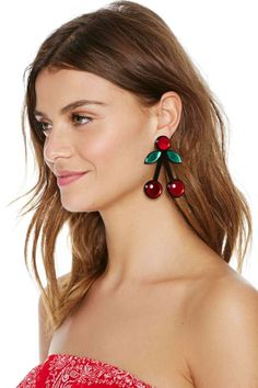 So Cherry Earrings