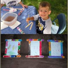 Homemade kids picture frame!