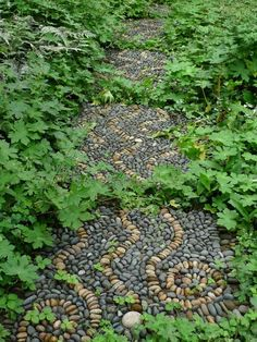 How to make pebble mosaic stepping stones – DIY projects for everyone! Stepping Stone Pathway, Mosaic Stepping Stones, Pebble Mosaic, Stone Mosaic, Rock Mosaic, Mosaic Walkway, Stone Paths, Garden Steps, Easy Garden