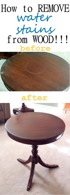 How To Remove Water Stains on Wood!