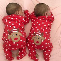 Boy And Girl Cartoon, Baby Cartoon, Newborn Christmas, Christmas Baby, Baby Boy Christmas Outfit, Twin Babies, Cute Babies, Twin Baby Girls, Newborn Twins