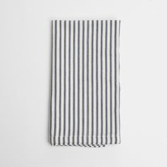 Navy Ticking Napkins (4)    Set the perfect brunch or dinner table with these French-inspired navy ticking napkins. A versatile addition to your kitchen, these napkins easily pair with coastal, vintage, or rustic place settings.  http://pressedcotton.com/shop/shop-by-category/new/navy-ticking-napkin-4/