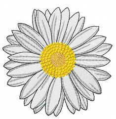 Three spring daisy flowers applique machine embroidery design | Machine  embroidery | Pinterest | Daisy flowers, Machine embroidery and Embroidery  designs