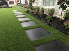 Artificial Grass Garden, Artificial Grass Installation, Grass Pavers, No Grass Backyard, Pool Landscape Design, Garden Design, Backyard Makeover, Front Yard Landscaping, Exterior