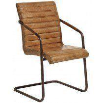 Nordal - Spisebordsstol - Brun læder