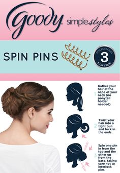 Using Goody Spin Pins is as easy as 123!