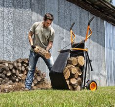 New Firewood hauler accessory for the WORX Aerocart 8-in-1 all purpose carrier. Much more than a wheelbarrow!