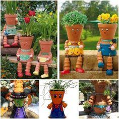 DIY Flower Pot People