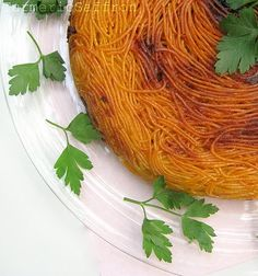 persian spaghetti w pasta tahdig, can substitute thick, cut up potato slices for the tahdig- best part!