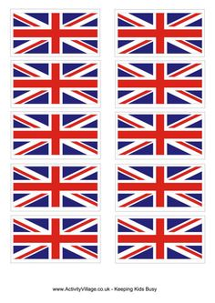 We've got 5 sizes of Union Flags for you to print here - from large to tiny toothpick size! Use them for projects, decoration and bunting. British Themed Parties, British Party, Union Jack Decor, London Flag, Victory In Europe Day, Great Britain Flag, Girl Scout Swap, Girl Scouts, World Thinking Day