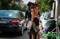 mitograph Domenico U Lovine and Patricia Manfield Before Etro Milan Fashion Week 2014 Spring Summer Street Style Shimpei Mito