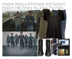 """""""Imagine Being a Winchester and Going to Beacon Hills Where You Meet The Pack"""" by xdr-bieberx ❤ liked on Polyvore"""